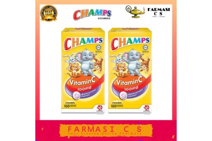 Champs Vitamin C 100mg Blackcurrant Flavour 100s x 2 (TWIN) EXP:05/2022 [Vitamin for Kids]